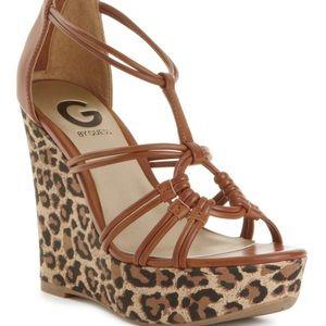 Leopard wedges size 6.5